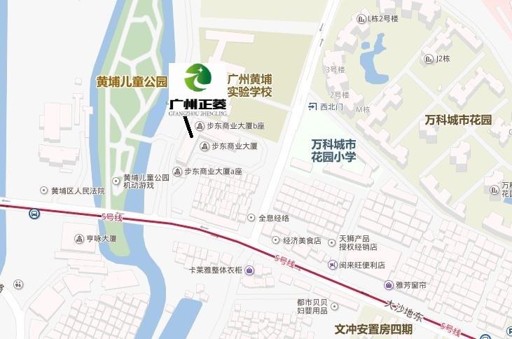 廣州正菱位置圖
